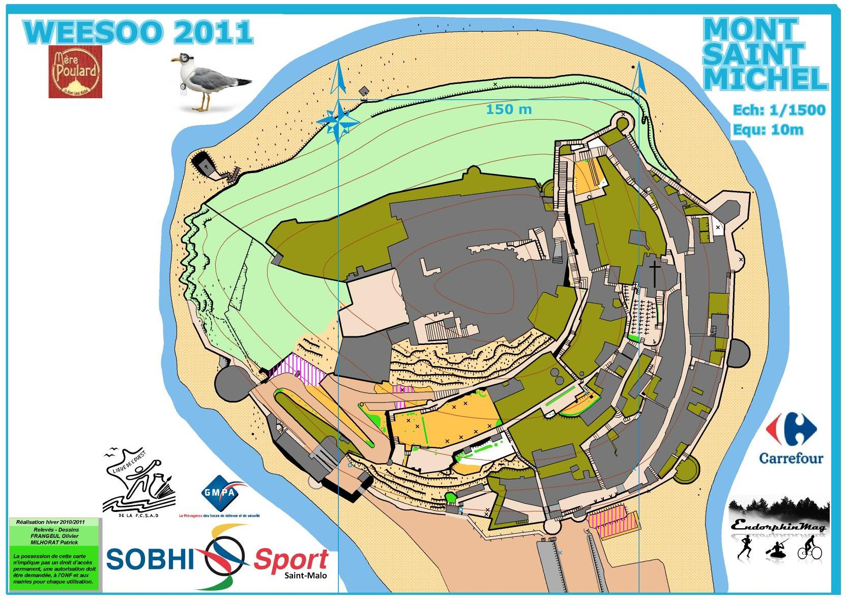 Mont Saint Michel orienteering map