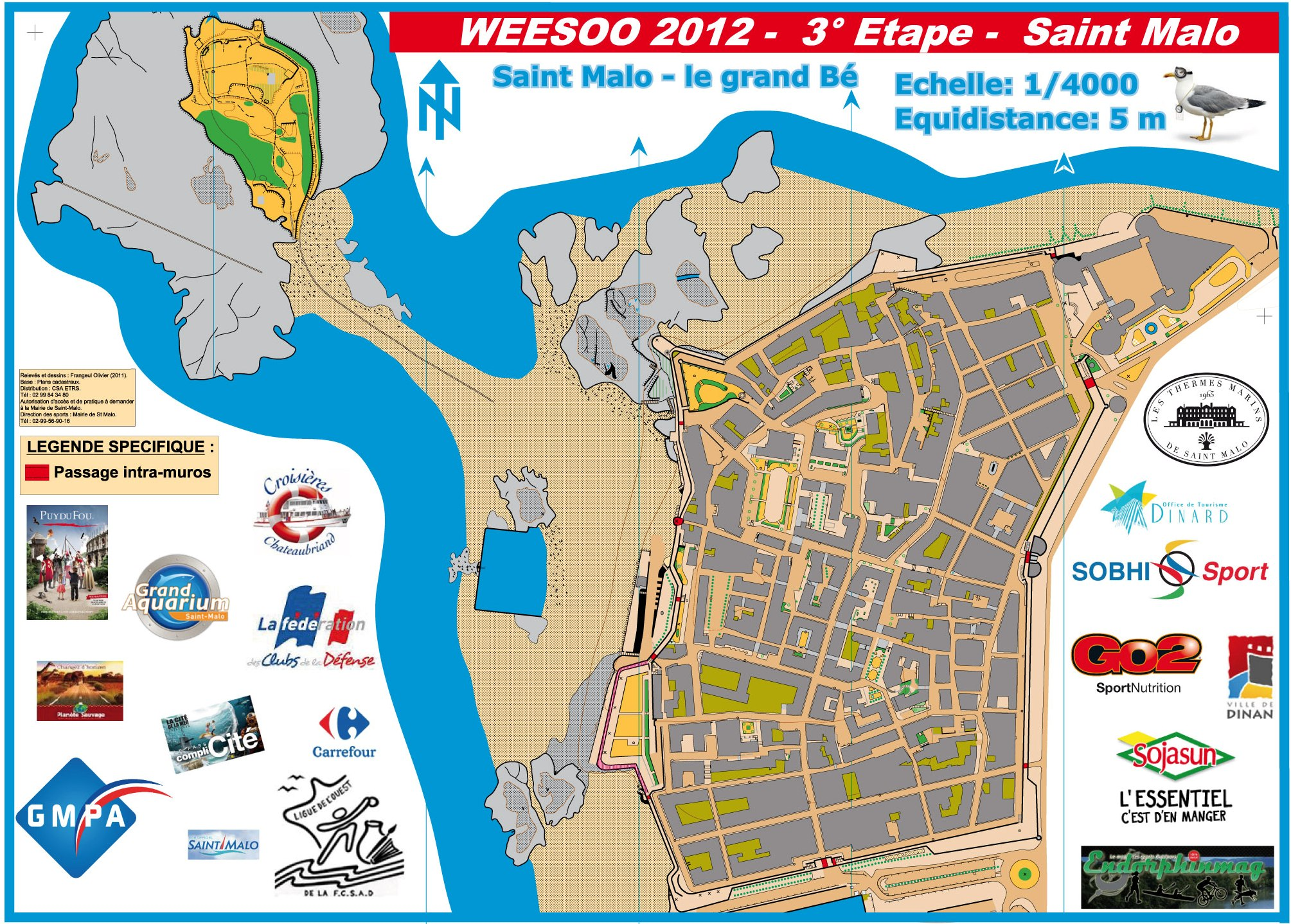 WEESOO ST MALO E3 March 4th 2012 Orienteering Map from