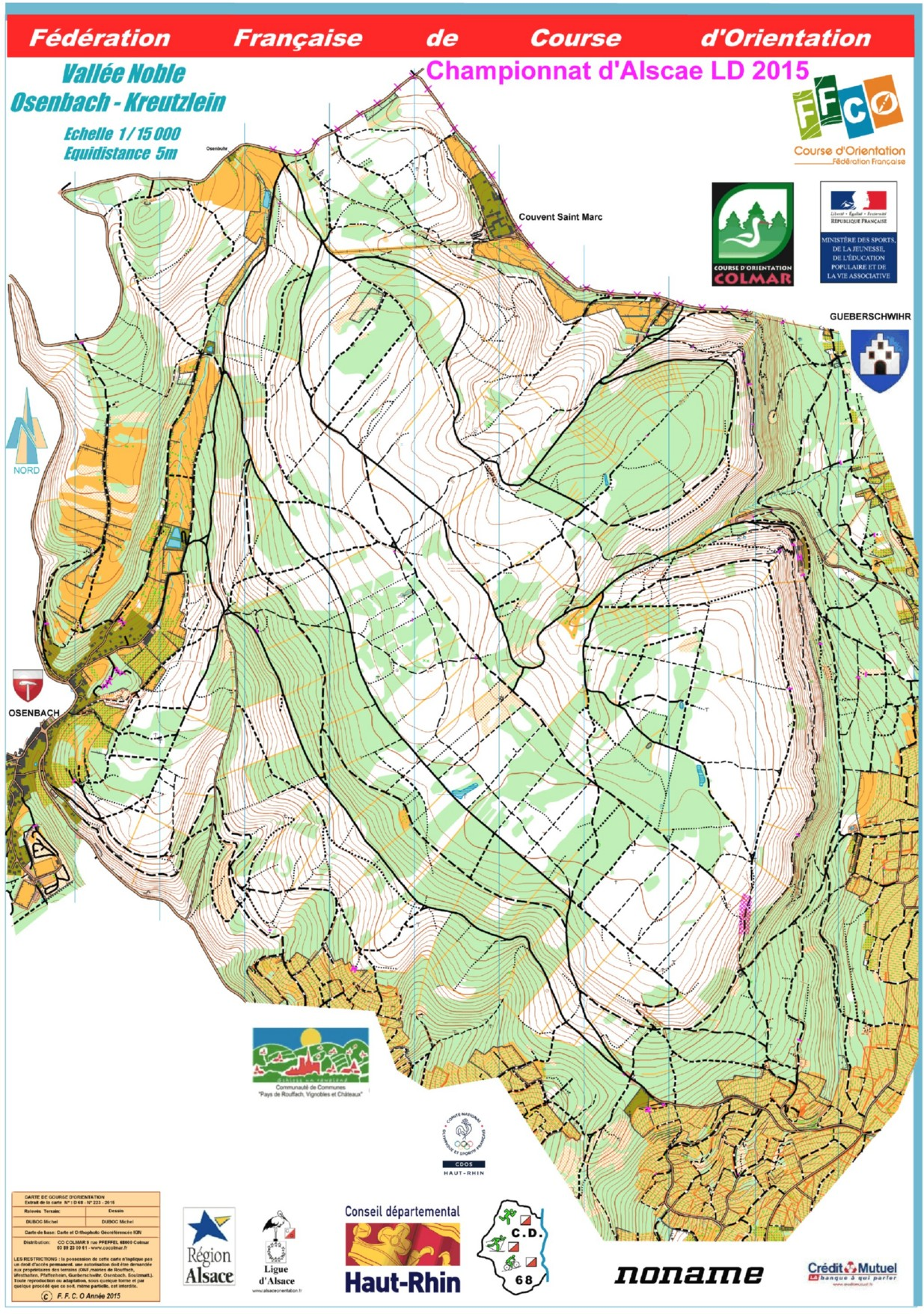Reg O VTT LD Colmar May 25th 2015 Orienteering Map from matracefr